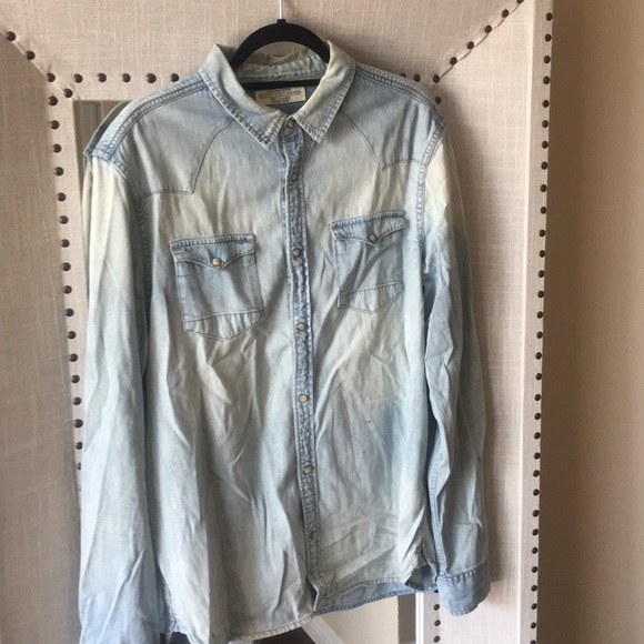 "08020b9376 All Saints Other - Men s ALLSAINTS ""Cannon LS"" shirt"